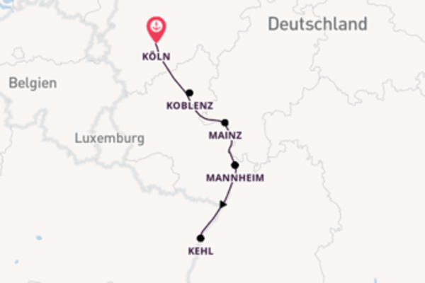 Wundervolle Reise ab Köln