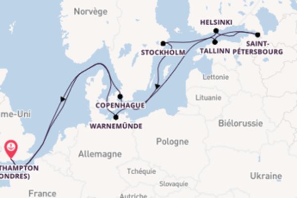 15 jours pour découvrir Helsinki au départ de Southampton (Londres)