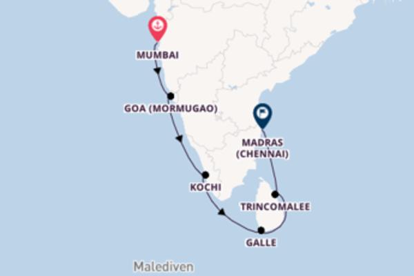 Begeisternde Kreuzfahrt über Galle ab Mumbai