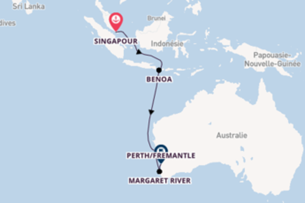 Contemplez avec Azamara Club Cruises, la destination: Bunbury