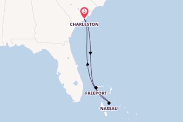 In 6 Tagen nach Charleston über Freeport