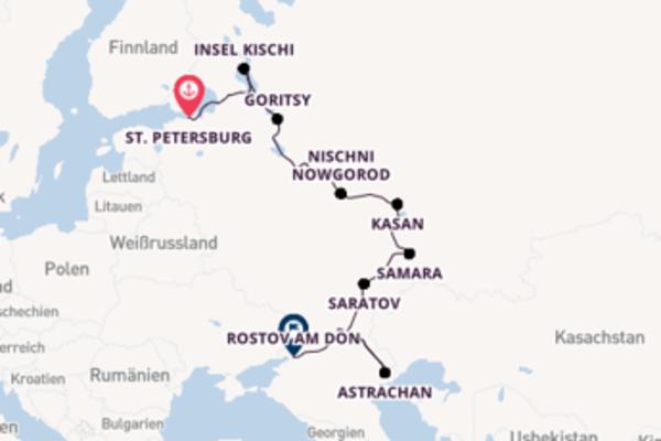 St. Petersburg, Russland und Rostov am Don, Russland erkunden