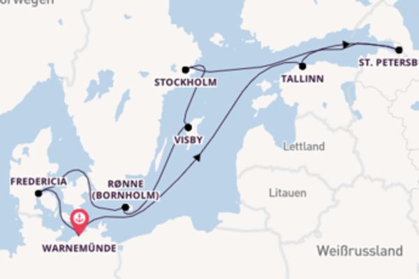 In 11 Tagen nach Warnemünde über Visby
