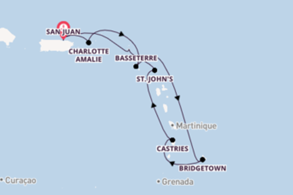 8 day expedition on board the Voyager of the Seas  from San Juan