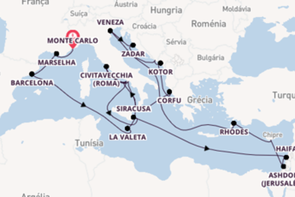 27 dias navegando a bordo do Seven Seas Mariner