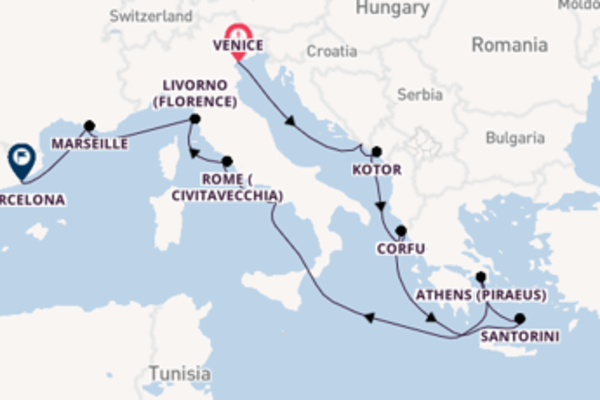 12 day expedition on board the Norwegian Jade from Venice