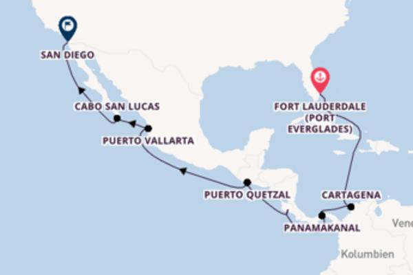 Begeisternde Kreuzfahrt über Puerto Quetzal nach San Diego