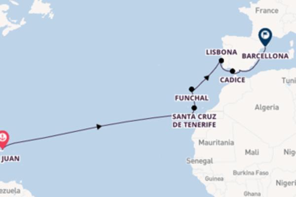 Romantica crociera da San Juan verso Lisbona