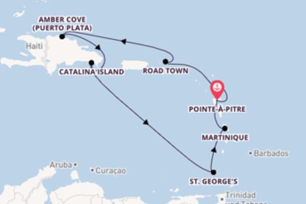 Kreuzfahrt mit der Costa Fortuna nach Pointe-à-Pitre