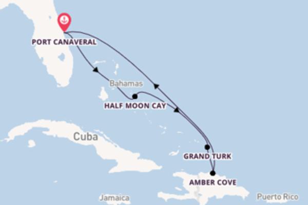 Ervaar Half Moon Cay met Carnival Cruise Line