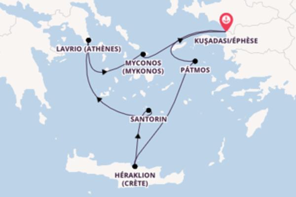 Somptueuse croisière vers Kuşadası/Éphèse via Héraklion (Crète)
