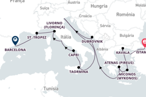 A bordo do Insignia em um cruzeiro de 16 dias