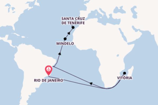 A bordo do Azamara Quest em uma viagem de 17 dias