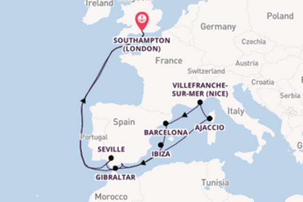 Trip with P&O Cruises from Southampton (London)