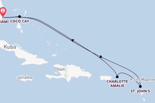 Genießen Sie 8 Tage Charlotte Amalie und Miami