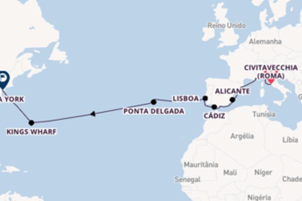 A bordo do Norwegian Escape em um cruzeiro de 17 dias