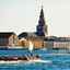 Vaar het indrukwekkende stad Kopenhagen