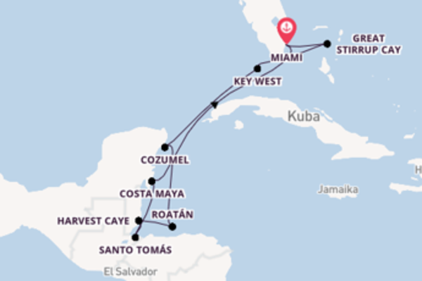 Miami und Great Stirrup Cay entdecken