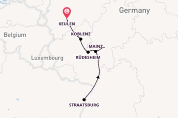 7-daagse cruise naar Rüdesheim
