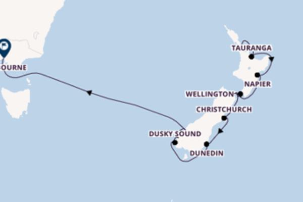 Cruise in 12 dagen naar Melbourne met Celebrity Cruises