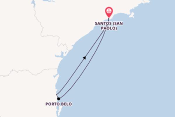 4 giorni da Santos (San Paolo)