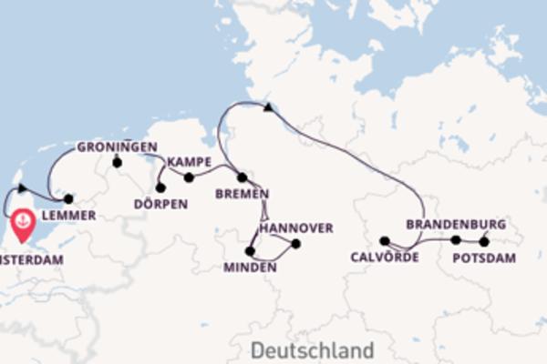 Amsterdam und Berlin-Spandau genießen