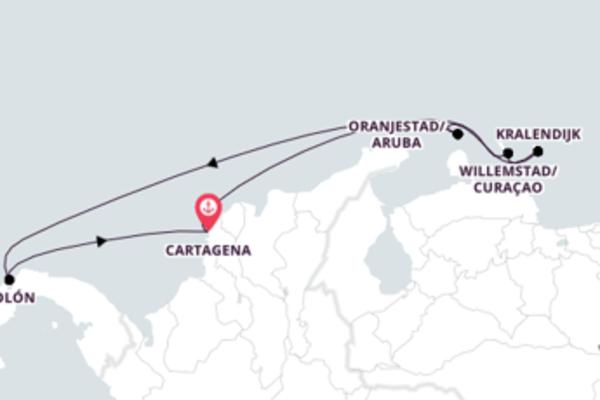 Curtindo o Caribe a partir de Cartagena