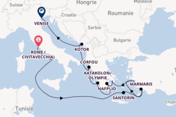 Merveilleuse croisière vers Venise via Kotor