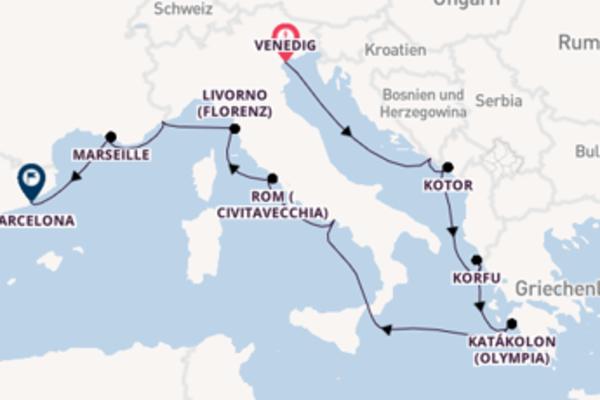 In 13 Tagen nach Barcelona über Dubrovnik