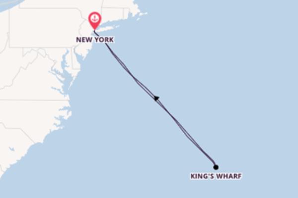 Fare rotta verso King's Wharf a bordo di Norwegian Joy