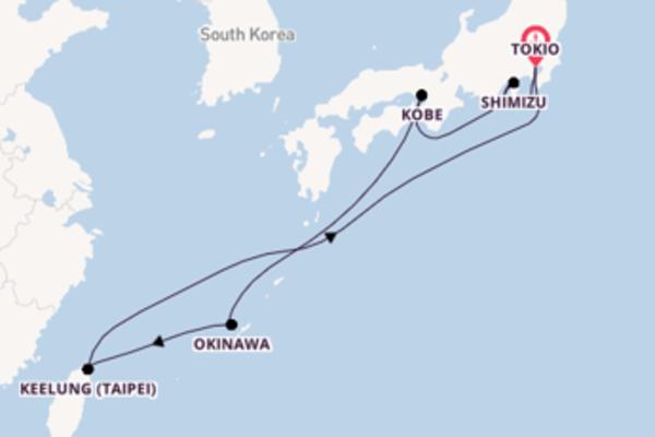 9-daagse reis aan boord van de Diamond Princess
