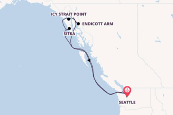 Erkunden Sie Endicott Arm ab Seattle