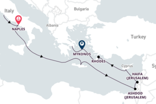 Charming Heraklion from Rome 15-Day Sail