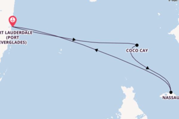 Von Fort Lauderdale (Port Everglades) über Coco Cay in 5 Tagen