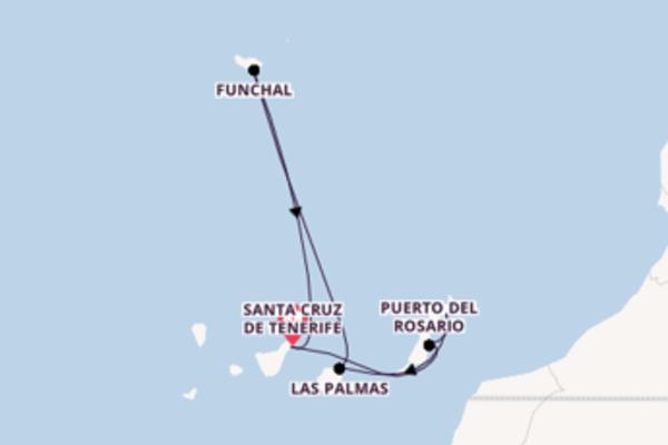8-daagse droomcruise vanuit Santa Cruz de Tenerife