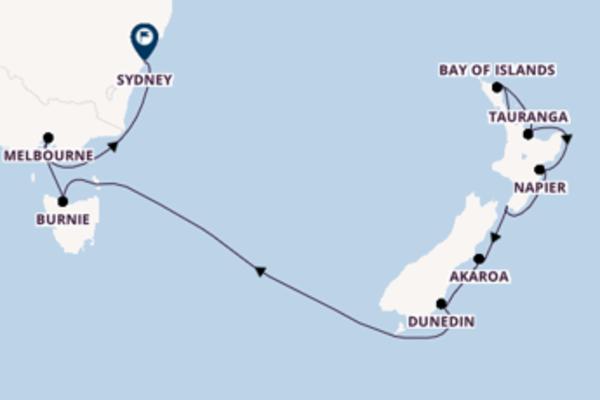 Vaar langs het waanzinnige Dunedin