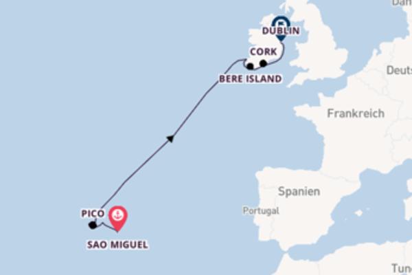 Azoren und Irland in 14 Tagen