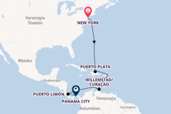 Wunderschöne Kreuzfahrt von New York nach Panama City