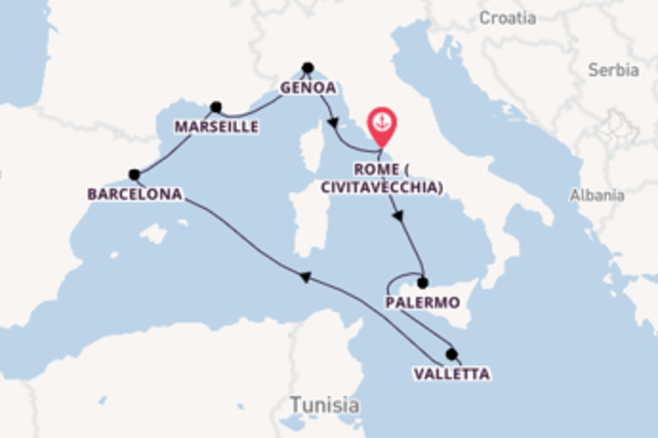 Cruise with MSC Cruises from Rome (Civitavecchia)