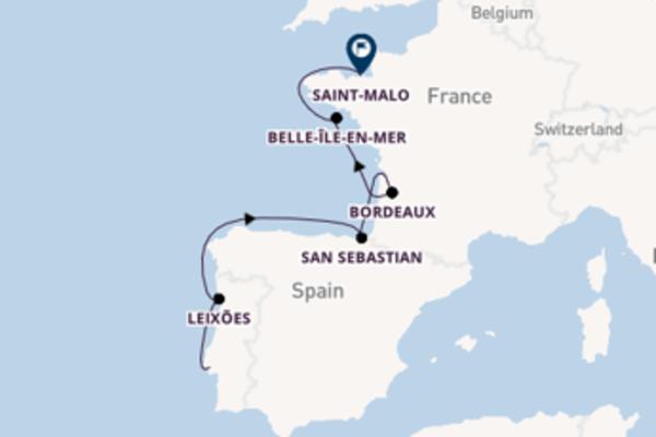 10-daagse cruise naar Bordeaux