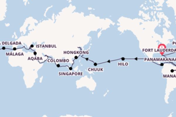 128 nachten Grand Voyage wereldcruise