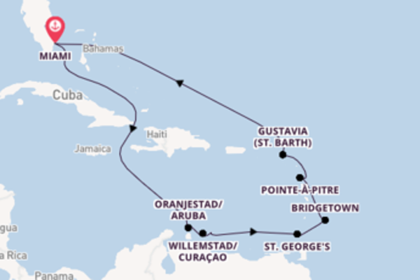 13 day voyage from Miami
