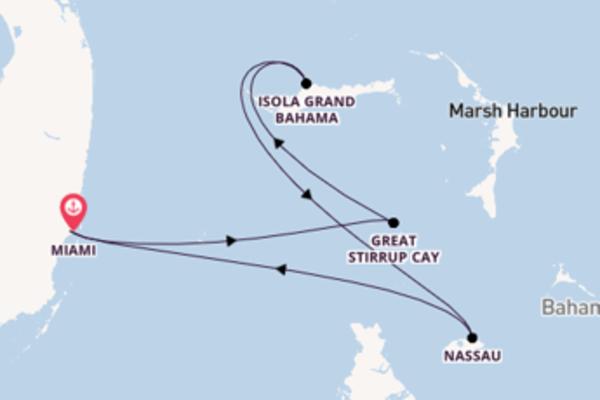 Incantevole crociera di 5 giorni passando per Great Stirrup Cay