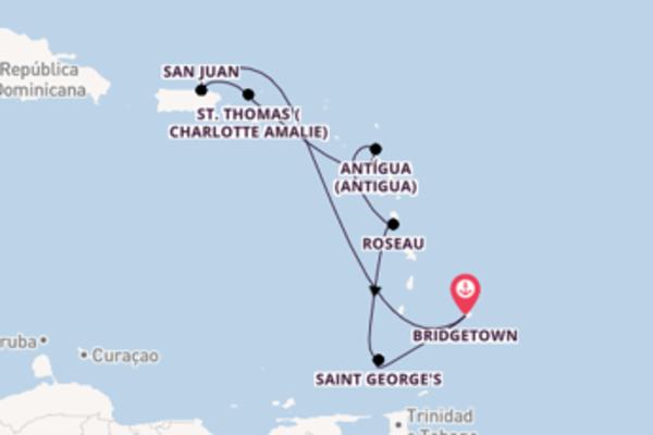 A bordo do Carnival Fascination em um cruzeiro de 8 dias