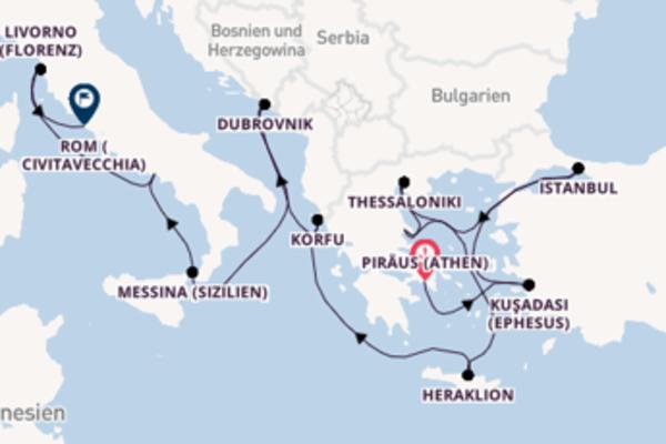 Einmalige Reise über Thessaloniki in 12 Tagen