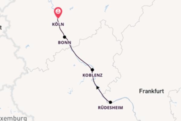 3-tägige Kreuzfahrt ab Köln