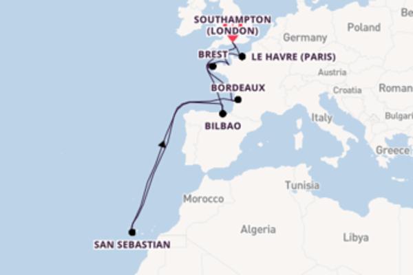 Sailing from Southampton (London) via La Rochelle
