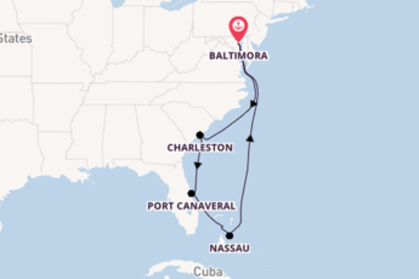 Incantevole viaggio da Baltimora verso Coco Cay