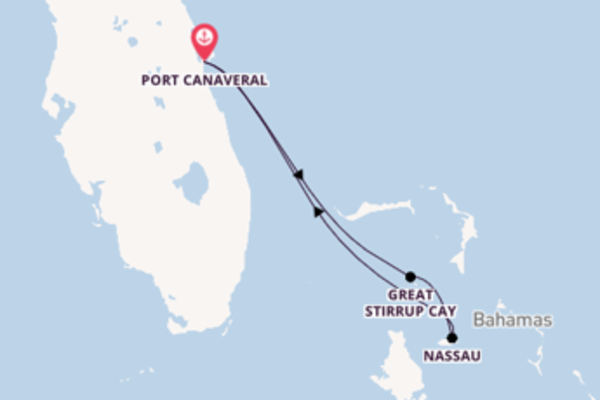 4-daagse droomcruise vanuit Port Canaveral