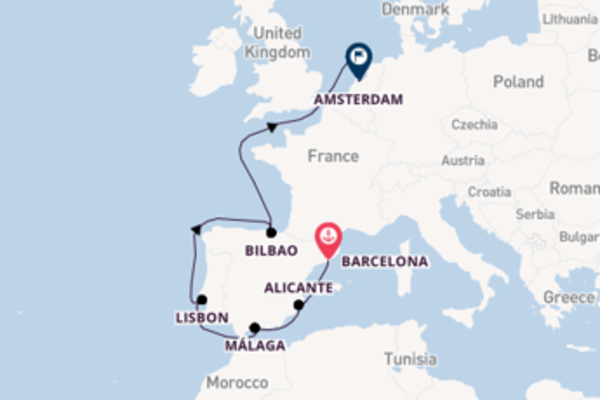 Cruising with the Jewel of the Seas to Amsterdam from Barcelona